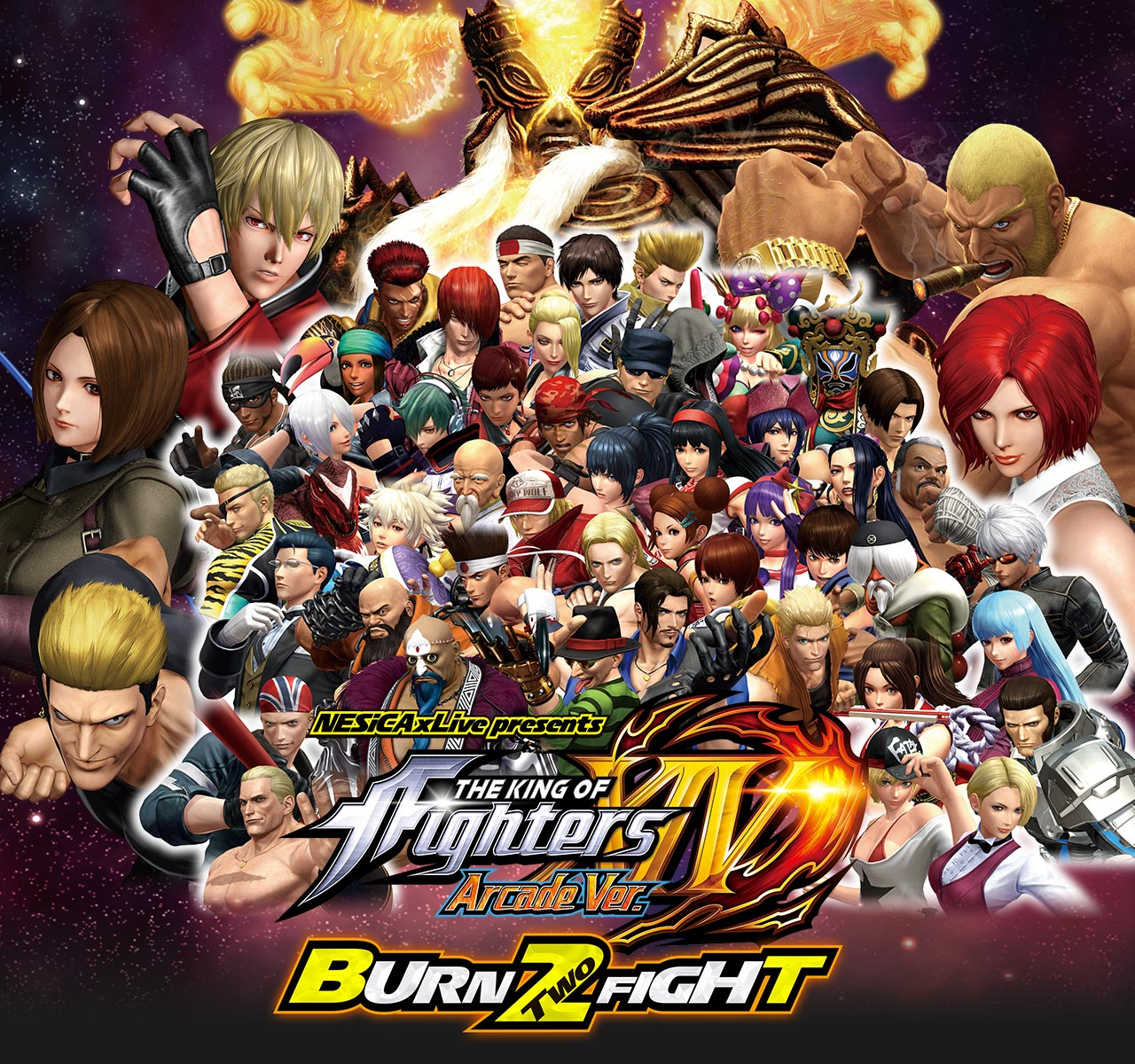 nesicaxlive presents the king of fighters xiv arcade ver burn two