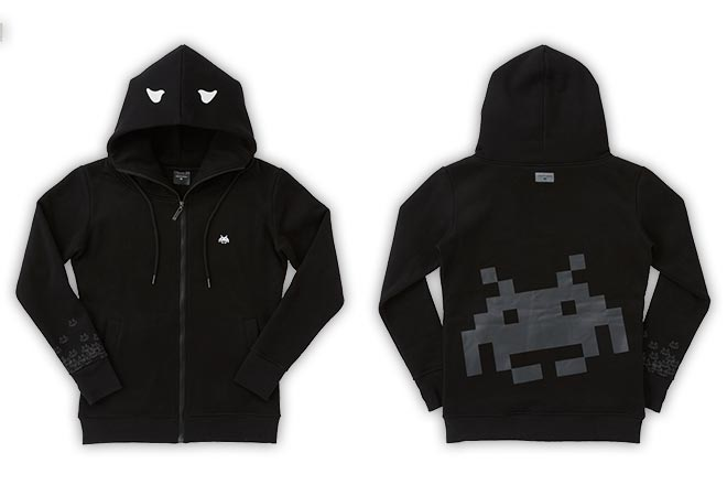 AND INVADERS パーカー【Black】