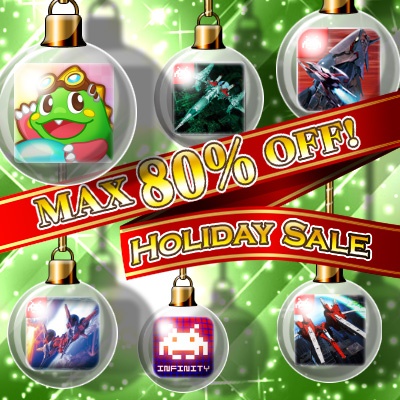 "TAITO CORPORATION ANNOUNCES THE ""TAITO HOLIDAY SALE"" WITH 8 PREMIUM GAMES, UP TO 80% OFF!"