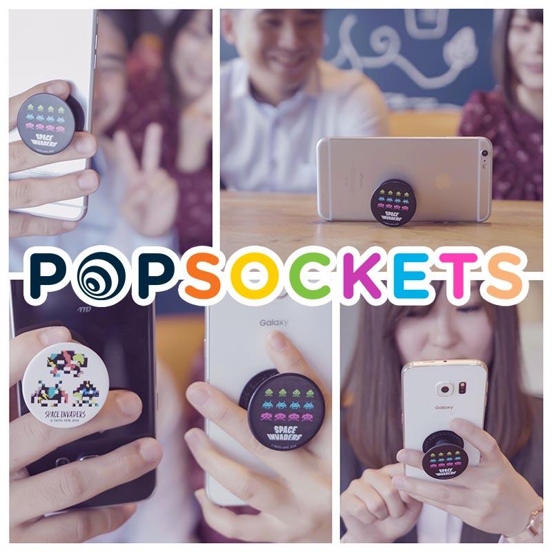 全米で大人気のスマホアクセサリー「ポップソケッツ・グリップ」スペースインベーダーデザインが7月1日より発売!