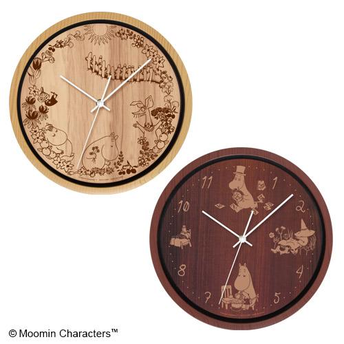 ムーミン 木目調 壁掛け時計
