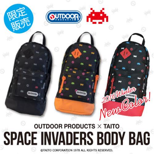 [OUTDOOR PRODUCTS×TAITO]スペースインベーダーボディバッグ数量限定で再販決定!